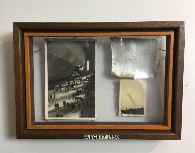 Incredible 1936 Hindenburg Zeppelin Original Piece Provenance ESTATE FRESH