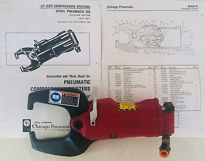 "Heavy Duty Chicago Pneumatic Compatible 3"" C-Yoke Rivet Squeezer   CP-214"