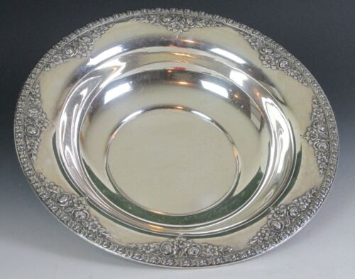 WALLACE STERLING SILVER BOWL LARGE NORMANDIE PATTERN NO MONOGRAM