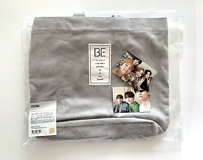BTS BE Eco Bag Official Merch MD Goods W. 2 Photo Card PC Set Unopened