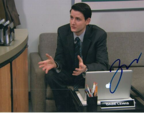ZACH WOODS signed (THE OFFICE) autographed TV SHOW *Gabe Lewis* 8X10 W/COA #7