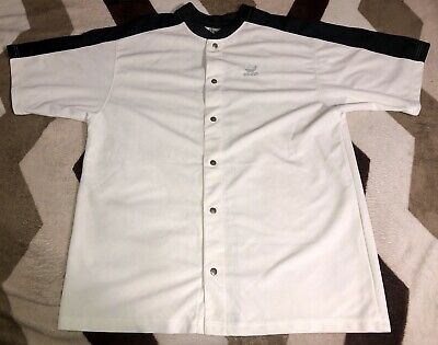 Vintage Adidas Three Stripes Button Front Shirt Jersey Mens Sz 2XL Rare Adidas Three Button Jersey