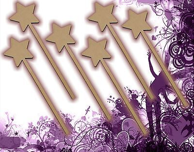 - Six (6) Fairy Wands Craft Wood MDF Girls Birthday Party Favor Novelty Toys 127
