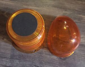 For Sale:  Two Construction/Safety Light Lens Covers