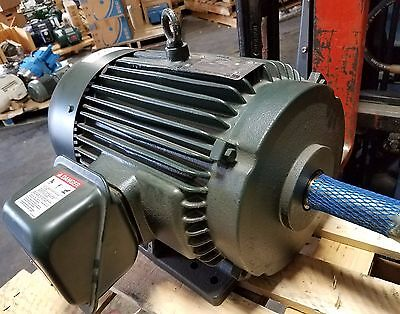 New Toshiba 15 Hp 3 Phase Induction Motor Nuclear Quality 1 58 Dia Shaft