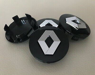 4 Felgendeckel Nabenkappen Nabendeckel RENAULT 57 mm schwarz gebraucht kaufen  Versand nach Germany