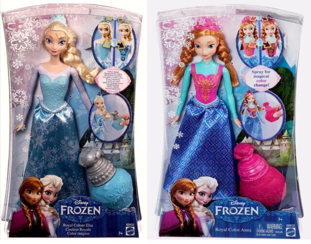 Disney  EISKÖNIGIN Puppen   Farbwechselzauber (Mattel) ANNA UND ELSA FROZEN