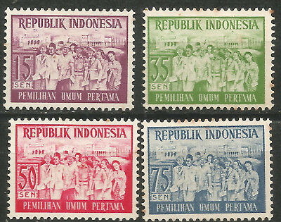 413-serie (INDONESIA scott# 410-413 Serie Completa Nueva MNG Democracia)