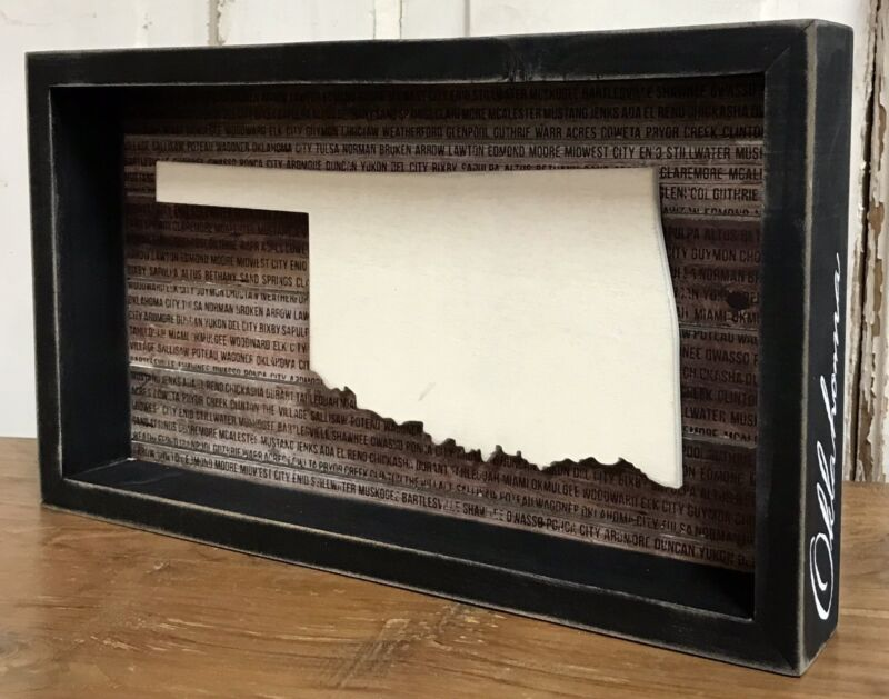 """OKLAHOMA State """"Favorite Place"""" Primitives by Kathy RETIRED Sign, 7.5"""" x 12.75"""""""
