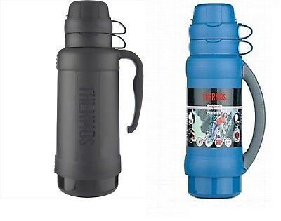 Thermos Premier Vacuum Insulated Glass Double Wall Flask 1L Black/Green/Blue Green 1l Wall
