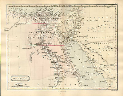 antient geography map by samuel butler 1869 - aegyptus
