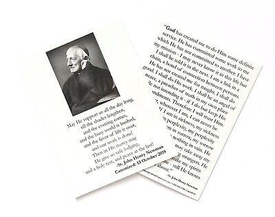 "ST SAINT JOHN HENRY NEWMAN Prayer Card - Large 4"" x 3"""