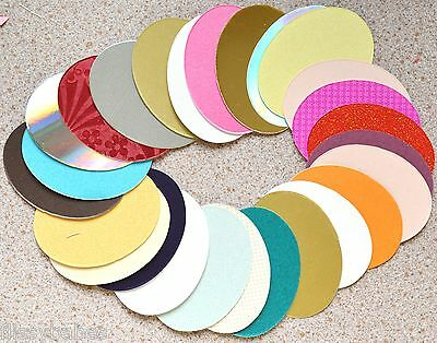 50 Pearlised Ovals 70 x 52mm **Asst Colours**NEW