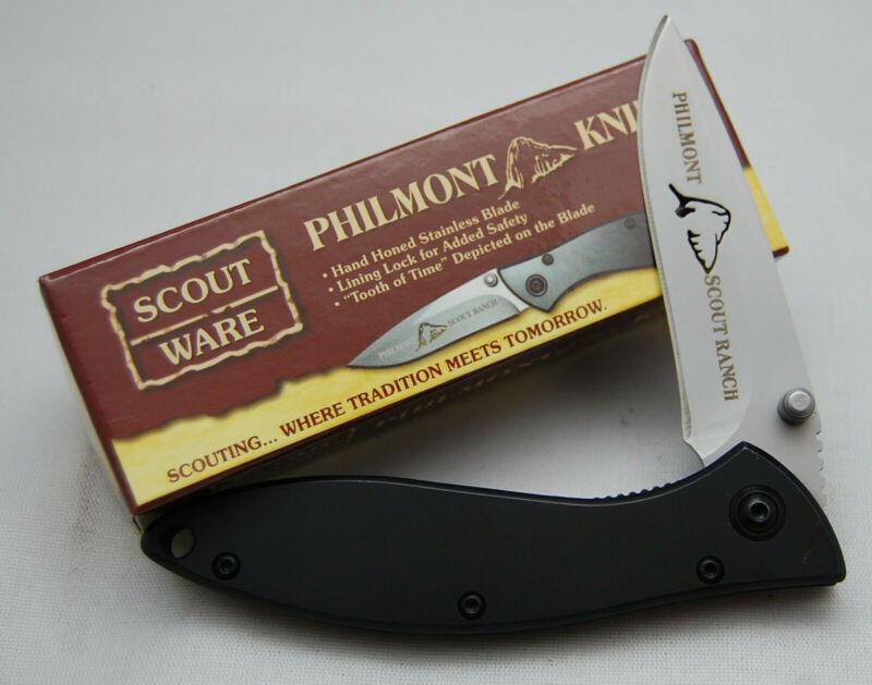 NIB Official Boy Scout Knife BSA #24110 Philmont Linerlock With Laser Etch (600)