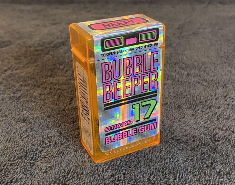 Vintage Bubble Beeper Gum Amurol - SEALED- 17 Stick Container 90s