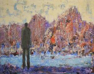 River Cliffs - Impressionist painting Sergio Ianniello Jindalee Brisbane South West Preview