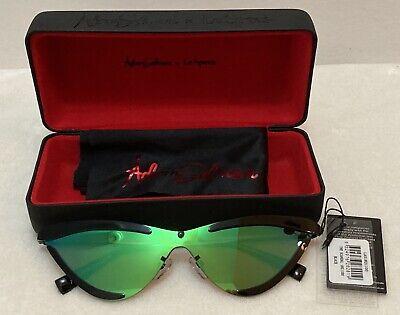 ADAM SELMAN x LE SPECS Women's Sunglasses THE SCANDAL Black Green Purple - NWT