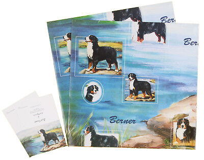 Bernese Dog Birthday Christmas General Wrapping Gift Paper 2 Sheets & 2 Tags