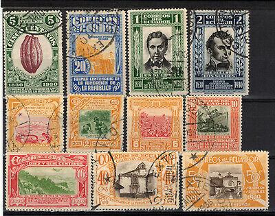ECUADOR Scott 304-315 Mint Hinged & Used ## 1 cent start ##