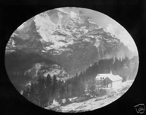 Glass-Magic-lantern-slide-THE-JUNGFRAUJOCH-C1890-SWITZERLAND