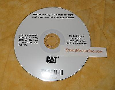 Senr1245 Caterpillar D3c D4c D5c Series Iii 3 Tractor Service Repair Shop Manual