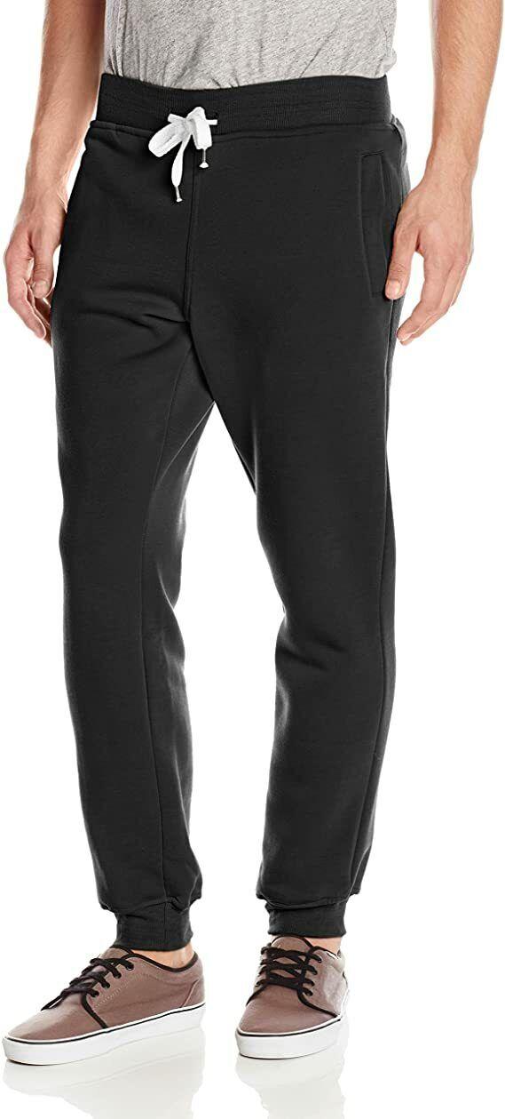 Southpole Men's Active Basic Jogger Fleece Pants, Black, Med