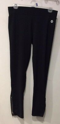 Women's Aerie Fit Workout Tights Black Zipper Ankles, Size Medium for sale  Sayville