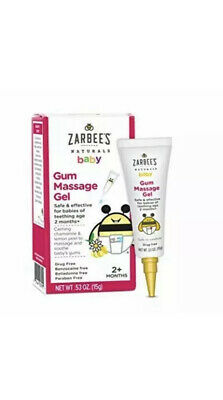 Zarbee's Naturals Baby Gum Massage Gel, 0.53 Ounce, Safe & Effective for Babies (Baby Massage Gel)
