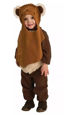 Star Wars Deluxe Baby Ewok E-Wok Costume Toddler 24M FAST FREE SHIPPING (Ewok Infant Costume)