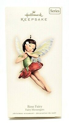 RARE NEW 2007 HALLMARK ROSE FAIRY MESSENGERS #3 IN SERIES CHRISTMAS ORNAMENT WOW