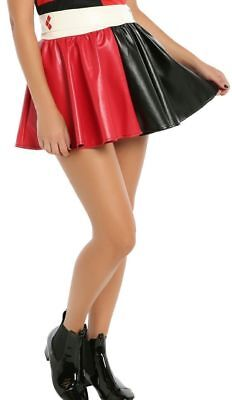 Harley Quinn Skirt (DC Comics faux Leather Harley Quinn PU Skirt Tutu cosplay Costume S/M)