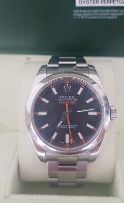 Rolex Milgauss Box and Papers 2012 116400