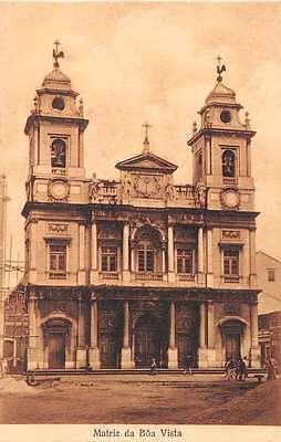 Boa Vista Brazil Church Antique Postcard J49359