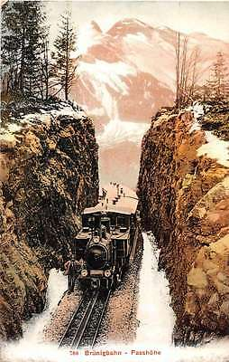 Brunigbahn Switzerland Railway Train Antique Postcard J50529