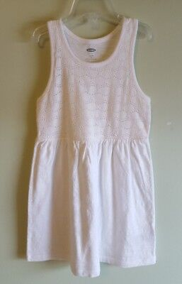 NWOT Old Navy Girls SIZE 5 Lace Bodice Sleeveless Dress WHITE New #214218