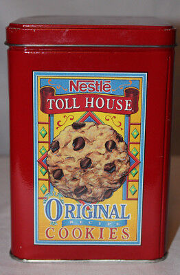 Vintage Nestle Toll House SemiSweet Original Recipe Chocolate Chip Cookies Tin Chocolate Semi Sweet Cookies