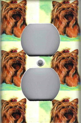 Adorable Yorkie - ADORABLE YORKIE DOG HOME OUTLET COVER