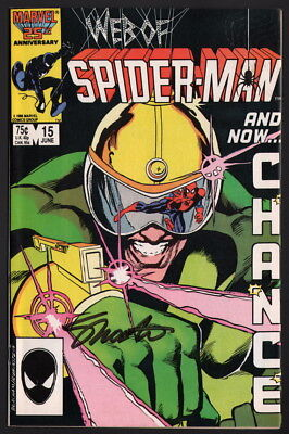 Web of Spider-Man #15 SIGNED by Marvel Comics Editor in Chief Jim Shooter