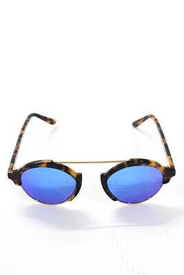 Illesteva Women's Milan 4 Round Shape Sunglasses Black Yellow Blue