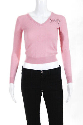 N 21 Womens Wool Long Sleeve Shirt Pink Size Small