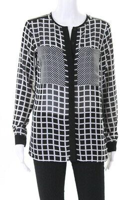 Michael Michael Kors Womens Plaid Button Down Blouse Black Size Extra Extra Smal Michael Kors Womens Blouse