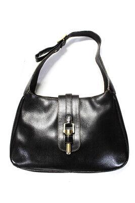 Mark Cross Structured Leather Shoulder Handbag Dark Brown