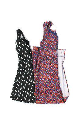 Zara Trafaluc Nightwalker Floral A Line Maxi Dress Black Red Size Small Lot 2