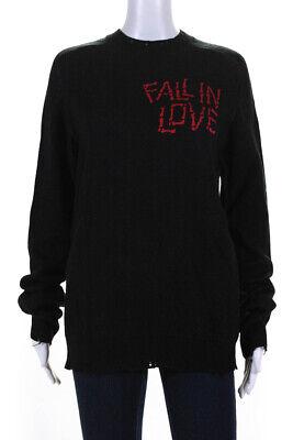 Riccardo Comi Mens Fall In Love Skull Jacquard Crew Neck Sweater Black Size XS