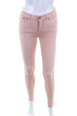 Victoria Beckham Peach Cotton Blend Skinny Leg Jeans Size 25 NEW $200