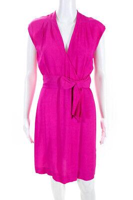 Kate Spade New York Women's Sleeveless V-Neck Shift Dress Pink Size 2