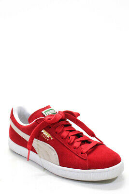 Puma  Womens Lace Up Classic Core Sneakers High Risk Red Suede Size 7