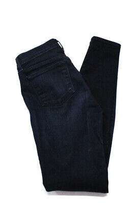 J Brand Womens Skinny Slim Mid Rise Casual Jeans Pants Cotton Leather Size 26