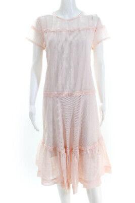 Paul & Joe Sister Womens Short Sleeve A-Line Midi Dress Pink Size EUR 40