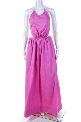 Staud Womens Apfel Maxi Dress Bright Pink Size Medium 13064753